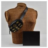GUCCI Black Leather GG Marmont 2.0 Bug Belt Bag