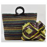 JAMIN PUECH Tote Bag and Sequin Shoulder Bag