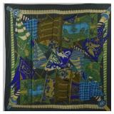 HERMES Entiendes de Bonnieres Silk Scarf