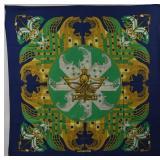 HERMES Proues Vintage Silk Scarf