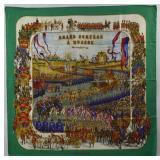 HERMES Grand Cortege a Moscou Vintage Silk Scarf