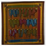 HERMES Les Sangles Vintage Silk Scarf