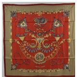 HERMES Parures des Sables Vintage Silk Scarf