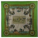 HERMES Les Normands Vintage Silk Scarf