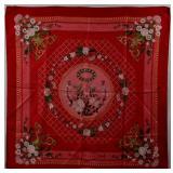 HERMES Jeux de Paille Vintage Silk Scarf