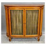 Satinwood inlaid wire-door cabinet