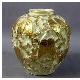 Phoenix glass parrot vase