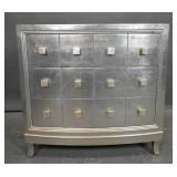 Silver-leaf 3-drawer dresser
