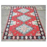 Flat weave Kilim carpet