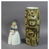 Royal Copenhagen porcelain Pajance vase;