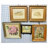 4 Framed textiles;