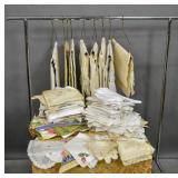 Box lot of linens