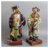 Pair of Asian ceramic figures