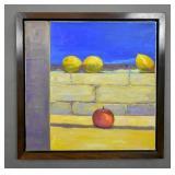 Lemons and an apple