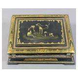 Black lacquered portable writing box/desk