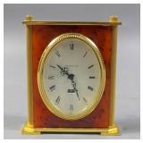 Jaeger Le Coultre brass & stone desk clock