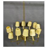 Tommi Parzinger style gilt-metal chandelier