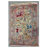Hunting scene Kashan carpet
