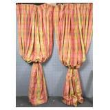 Pair of butterscotch plaid drapes