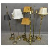 8 Metal floor lamps