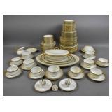 Assembled Limoges porcelain partial dinner service