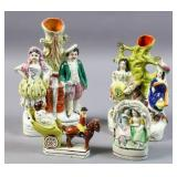 Group of Staffordshire figures