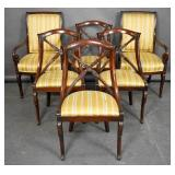 Set of Empire style mahogany dining chairs