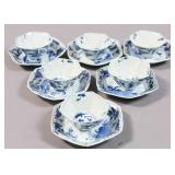 Set of 6 Chinese export porcelain teacups