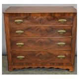 American mahogany chest of drawers