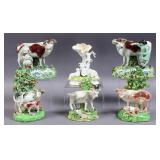 Group of Staffordshire figurines