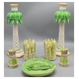 Dodie Thayer porcelain cabbage and pea pod plate;