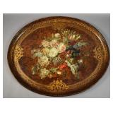 Continental hand painted papier mache tray