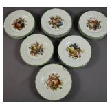Set of 24 Limoges porcelain plates