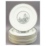 Set of 12 Cauldon ceramic plates