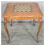 Louis XV style wood games table