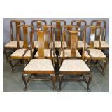 Set of Georgian style mahogany chairs
