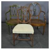 Group of George III style painted chairs
