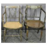 Two Regency painted armchairs