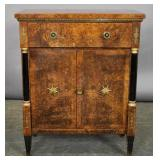 Empire style burl wood cabinet