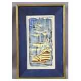 French framed porcelain plaque