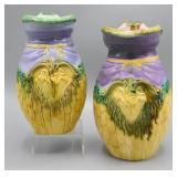 Two Majolica pitchers