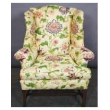 Georgian style upholstered wing chair