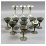 Set of 12 sterling silver cordials