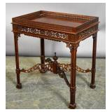 Georgian style mahogany fret carved table