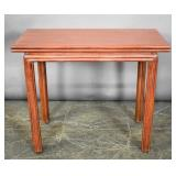 McGuire painted bamboo fold over side table