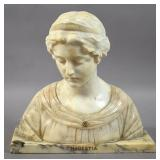 Marble and alabaster bust of Modestia