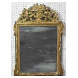 Painted wood decorative hall mirror