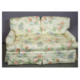 Floral upholstered settee