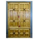 Provincial style oak 2-part cabinet