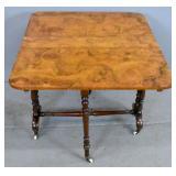 Victorian burlwood Sutherland table